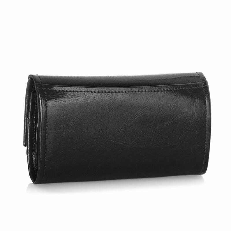 Skórzany portfel damski Brodrene czarny