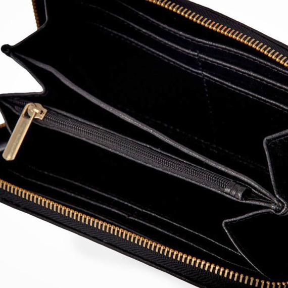 Skórzany portfel damski SOLIER P02 czarny