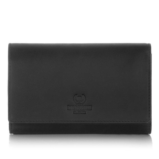Skórzany portfel damski czarny Paolo Peruzzi IN-05-BL