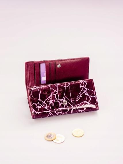 Skórzany portfel damski fioletowy Lorenti 55020