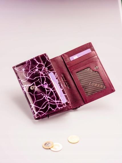 Skórzany portfel damski fioletowy Lorenti 76112