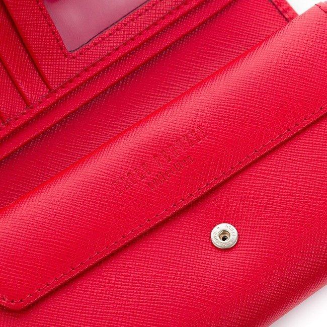 Skórzany portfel damski granatowy Paolo Peruzzi Saffiano S-02-02