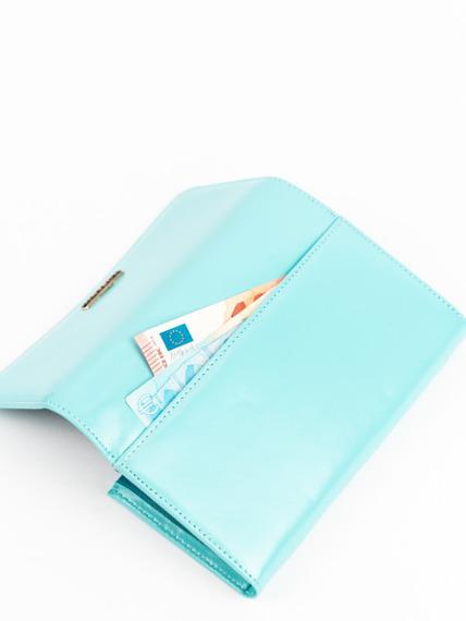 Skórzany portfel damski turkusowy Lorenti 76110