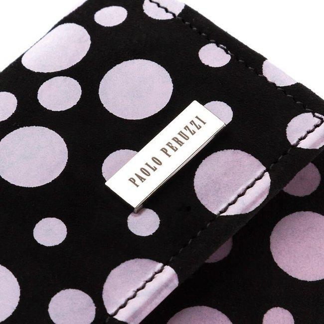 Skórzany portfel damski w groszki PAOLO PERUZZI L-37