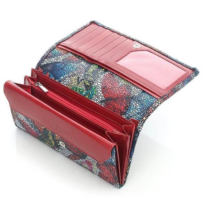 Skórzany portfel damski w modnym wzorze Paolo Peruzzi 643PP