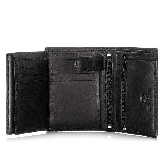 Skórzany portfel męski BAG STREET GA176 brązowy