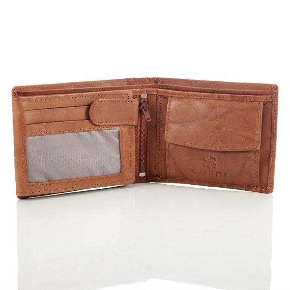 Skórzany portfel męski Bag Street GA189 niebieski