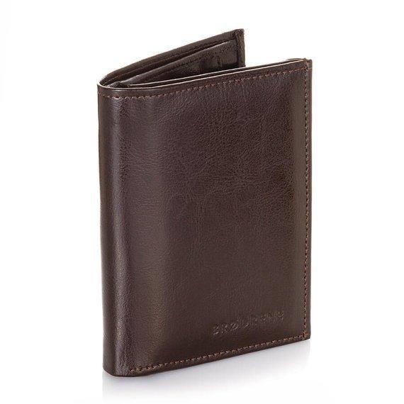 Skórzany portfel męski Brodrene A-01 brązowy
