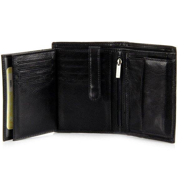 Skórzany portfel męski KRENIG Classic 12088 czarny