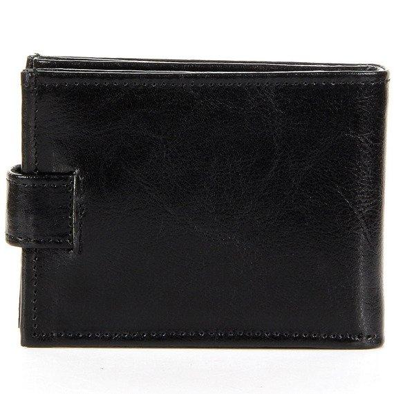 Skórzany portfel męski P156 czarny