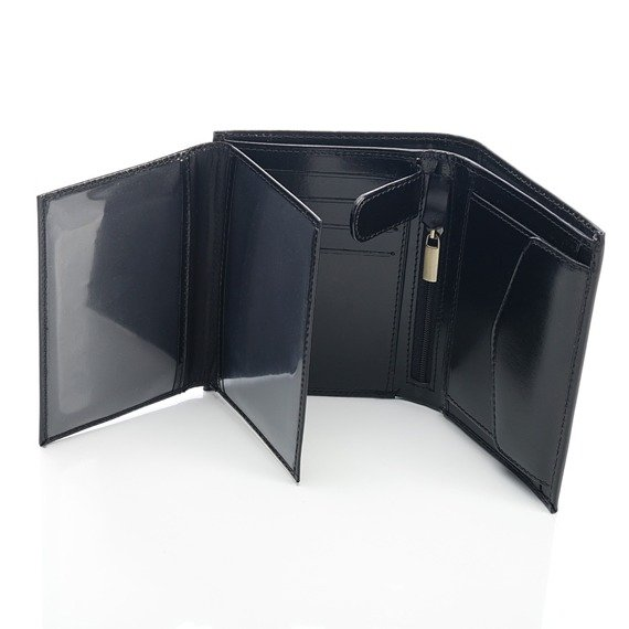 Skórzany portfel męski PAOLO PERUZZI GA179 czarny