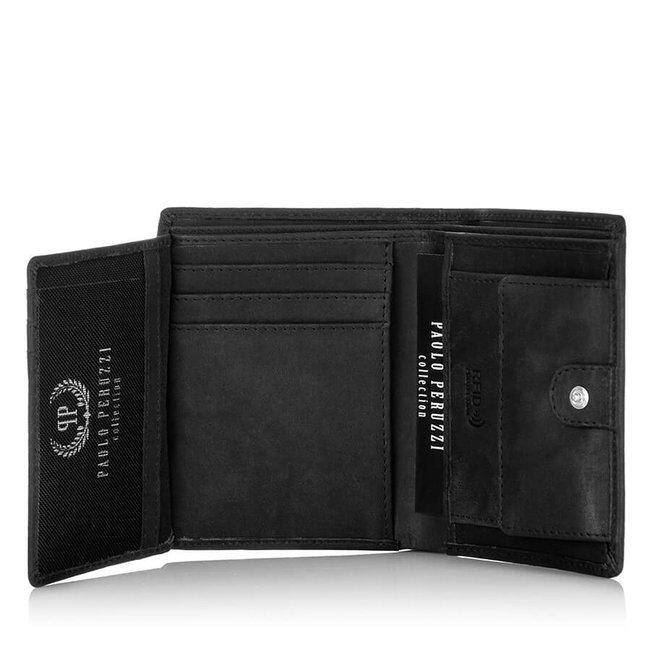 Skórzany portfel męski Paolo Peruzzi RFID IN-02