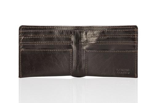 Skórzany portfel męski SOLIER SW05B ciemnobrązowy