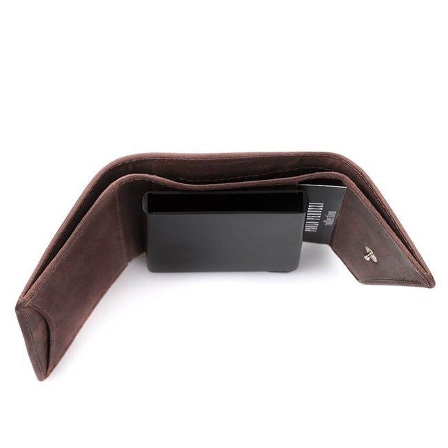 Skórzany portfel męski c.brązowy RFID Paolo Peruzzi IN-10-BR