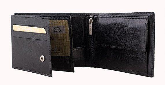 Skórzany portfel męski czarny KRENIG El Dorado 11090