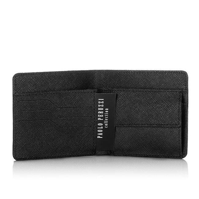 Skórzany portfel męski slim saffiano Paolo Peruzzi S-03