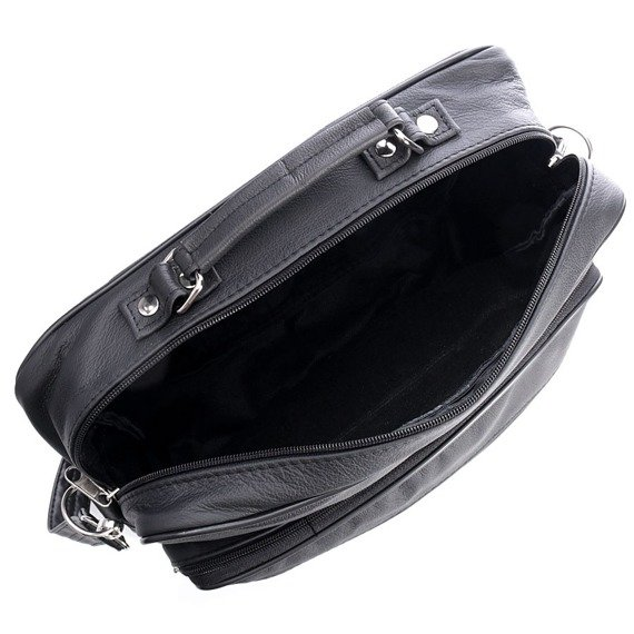 Solidna torba skórzana męska do ręki i na ramię Abruzzo GA103