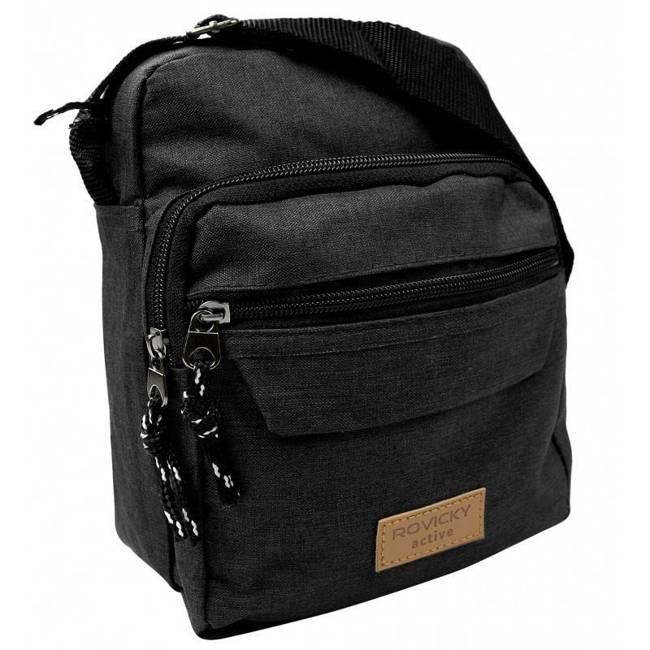 Sportowa listonoszka czarna Rovicky  BAG-SB-01-3996 BLACK