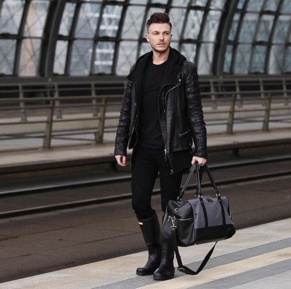 Sportowa torba weekendowa męska Solier brązowa
