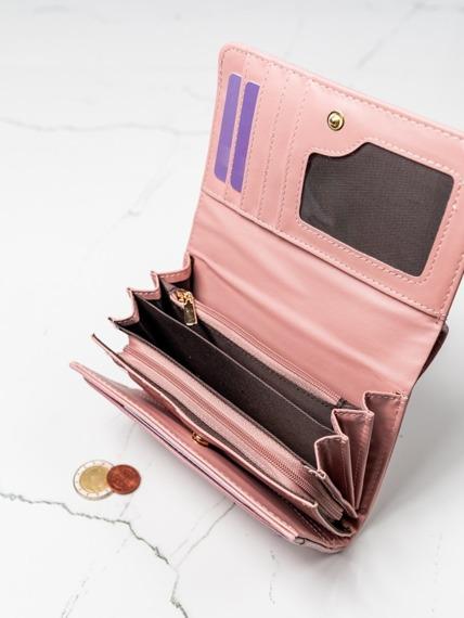 Stylowy portfel damski Milano Design różowy