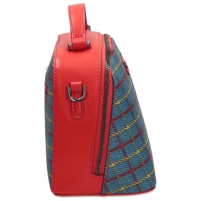 TOREBKA damska kuferek NOBO niebiesko-czerwona NBAG-G1460-C012