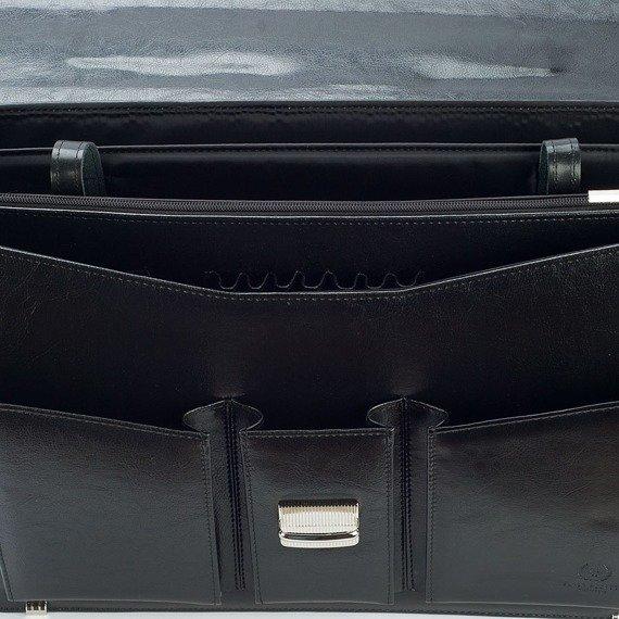 Teczka aktówka męska na laptopa PAOLO PERUZZI GA167 czarna