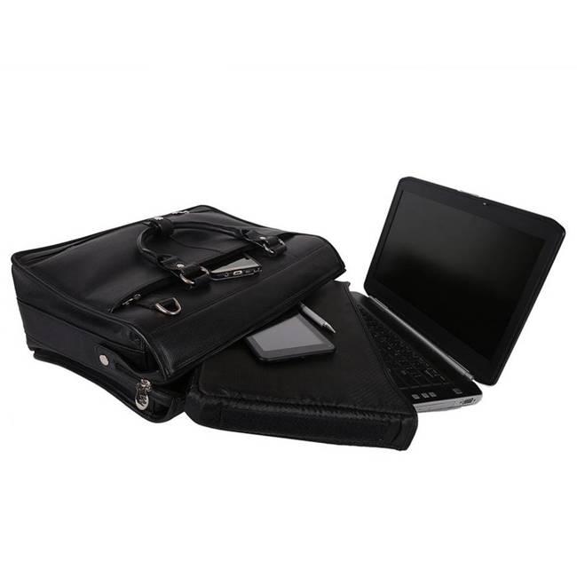 """Teczka skórzana męska na laptopa 15,4"""" Mcklein Gresham 15975 czarna"""