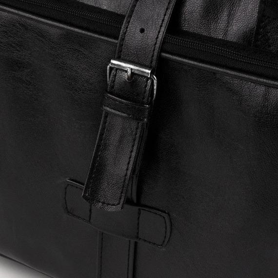 Torba męska na ramię, torba na laptopa SOLIER S10 oldschool czarna