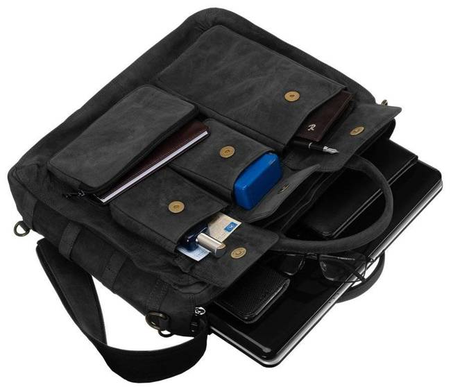 Torba na laptopa czarna Badura LAP-31701-TGH-7489 B