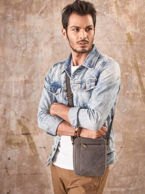 Torba skórzana listonoszka Always Wild 8020 czarna