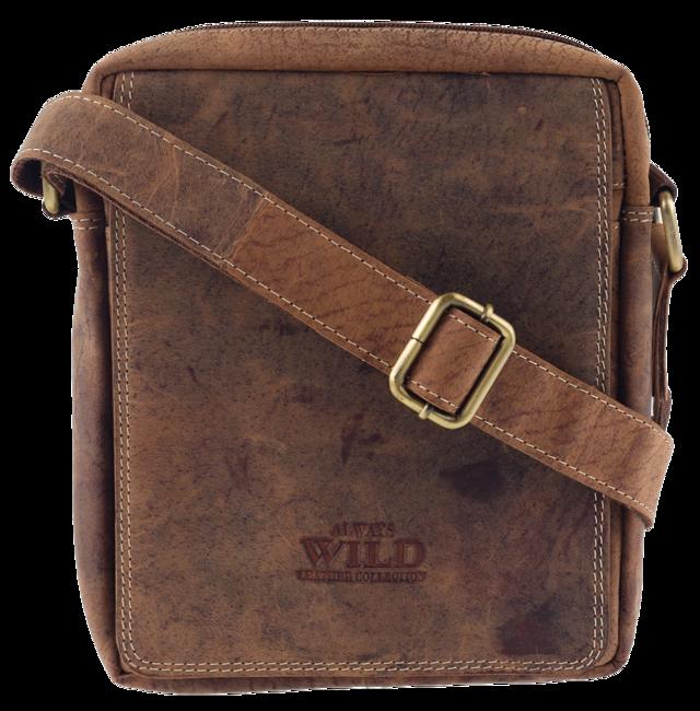 Torba skórzana na ramię Always Wild 250589-MH brązowa