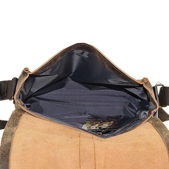 Torba skórzana na ramię unisex DAAG Jazzy Risk Up 137 brązowa