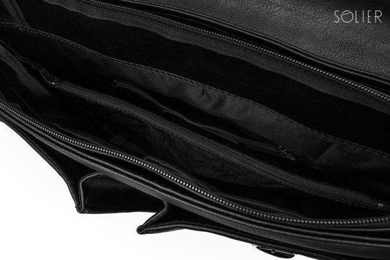 Torba / teczka męska do ręki i na ramię vintage Solier S14 Lanark