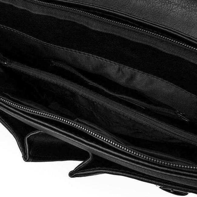Torba / teczka męska do ręki i na ramię vintage Solier S14 Lanark czarna