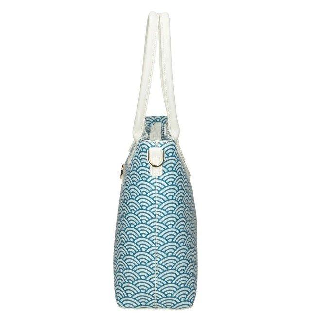 Torebka damska biało-niebieska NOBO NBAG-I3260-CM00