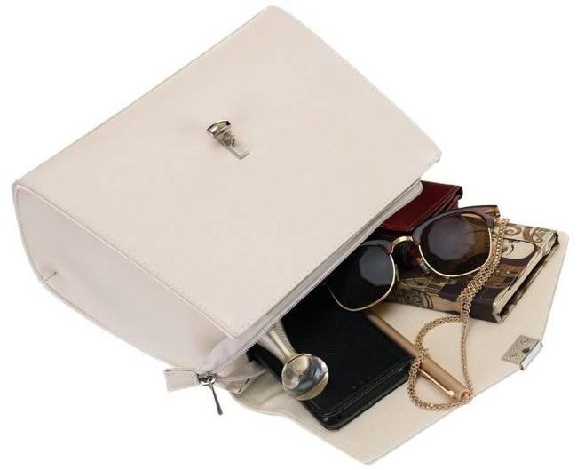 Torebka damska ecru David Jones 6506-1 CR.WHITE
