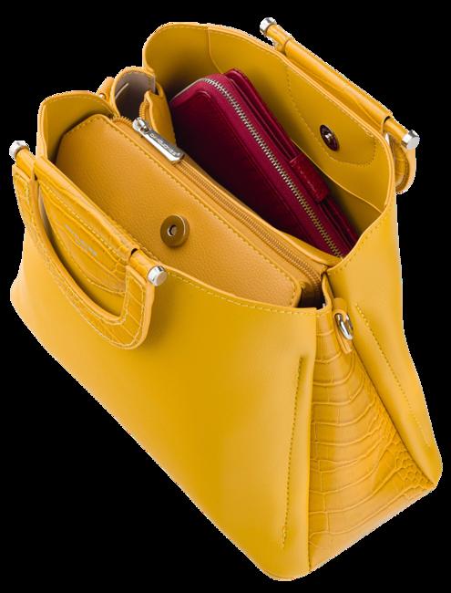 Torebka damska kuferek David Jones CM5674 różowa