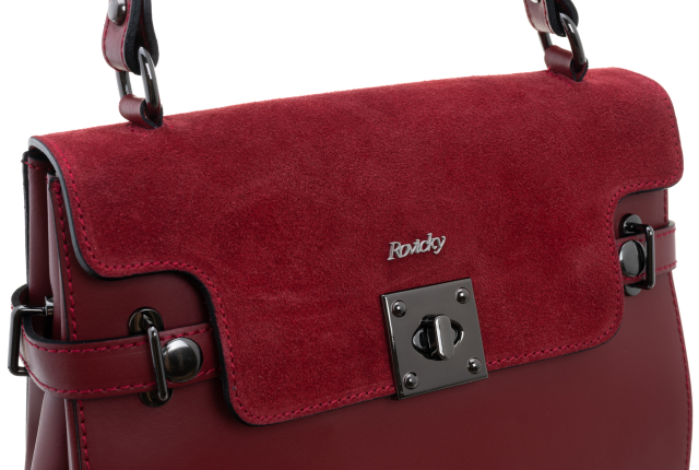 Torebka damska kuferek Rovicky TWR-69 czerwona
