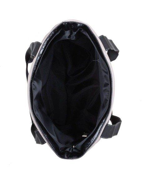 Torebka damska pikowana shopperka Felice FB46 beżowa