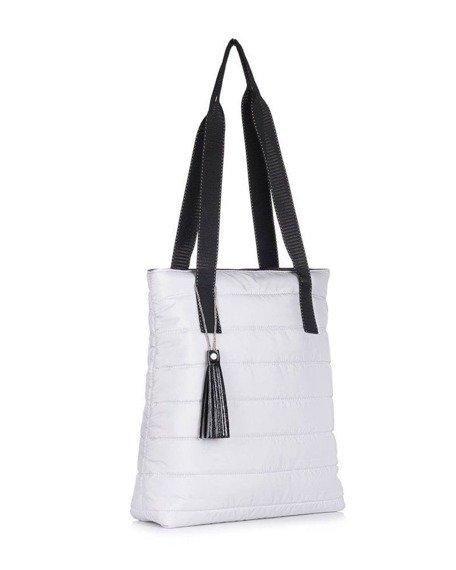 Torebka damska pikowana shopperka Felice FB46 szara