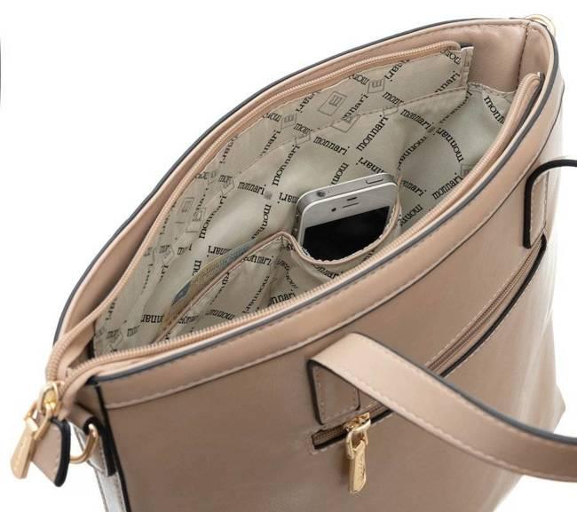 Torebka damska shopper Monnari 3830 brązowa