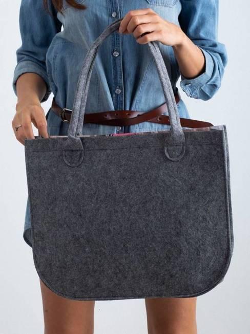 Torebka damska shopper bag Lorenti Lady Tulipany 093