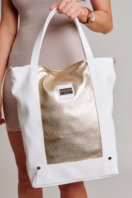 Torebka damska shopper biało-złota Badura T_D019BI_CD