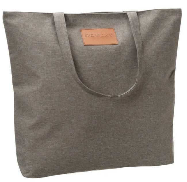 Torebka ekologiczna shopperka tekstylna A4 Rovicky beżowa