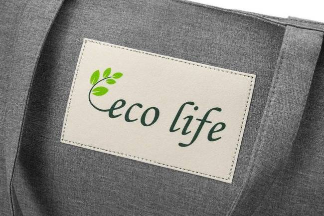 Torebka ekologiczna shopperka tekstylna A4 Rovicky szara