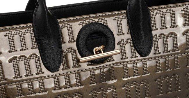 Torebka klasyczna lakierowana Monnari złota 4160