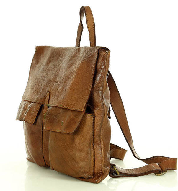 Torebka plecak 2w1 MARCO MAZZIN brązowa v181a