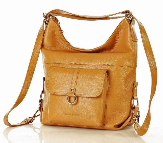 Torebka plecak 2w1 camel MARCO MAZZINI s116t