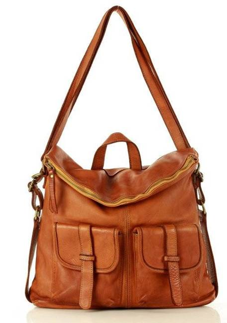 Torebka plecak 2w1 camel MARCO MAZZINI v139b
