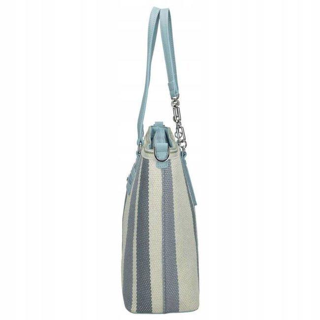 Torebka shopper bag w pasy Nobo niebieska 1420